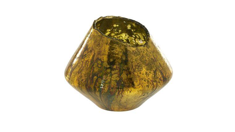 Picture of a AD Tati Gold Vase / Votive - Oblong