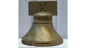 """Image of a 24"""" Gold Liberty Bell Replica"""