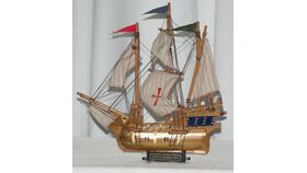 "Image of a 13"" Santa Maria Ship Replica Model"