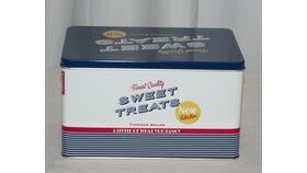 Image of a 50's Vintage Sweat Treats Metal Tin Container