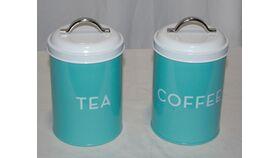 Image of a 50's Vintage Tea and Coffee Tin Set