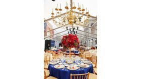 Image of a Brass Chandelier 6' Diameter *NON ELECTRIFIED