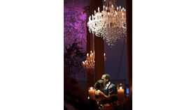 """Image of a Crystal Chandelier 54"""" diam x  72""""h"""