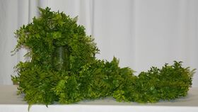 Image of a 6' Fern and Eucalyptus Garland