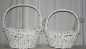 Image of a White Basket Sets