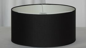 Image of a Round Black Salon Floor Lamp Shade