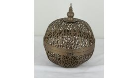 Image of a Bronze Hanging Lantern 9""