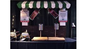 Image of a Brick Food Stand with Awning