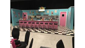 Image of a 50's Diner Counter