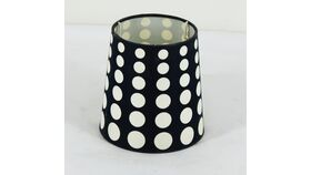 Image of a Black with White Polka Dot Shade