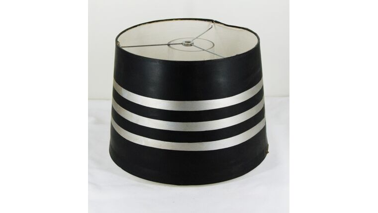 Picture of a Black and Silver Striped Shade