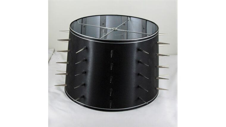 Picture of a Black and Silver Spiked Shade