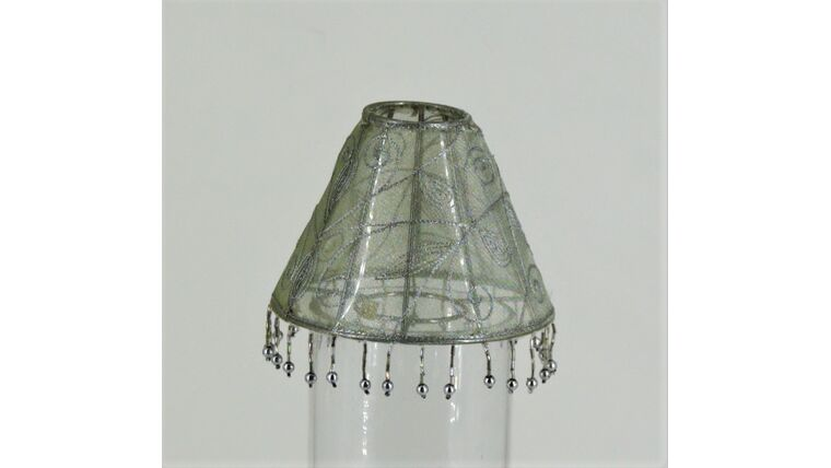 Picture of a Light Greek Silk with Paisley Embroidered and Tassel Shade Small