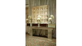 """Image of a Beveled Mirror Console (48""""H X 96""""L X 27""""W)"""