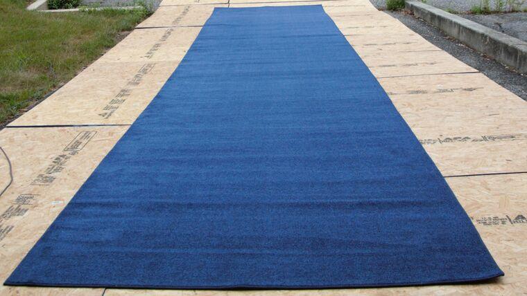 Picture of a 10' X 22' Blue Carpet