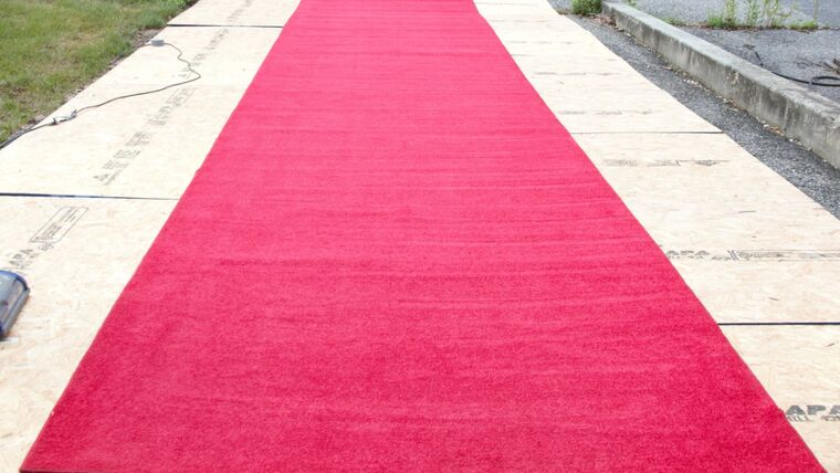Picture of a 12' X 15' Red Carpet