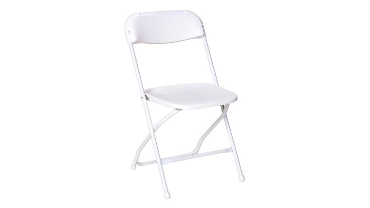 Picture of a White Poly Folding Chair