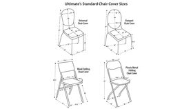 Image of a Polyester Ivory Chair Covers (Folding Chair)