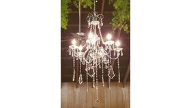 Image of a Small Crystal Chandelier