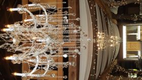 Image of a Large Crystal Chandelier
