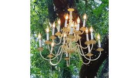 Image of a Medium White Chandelier