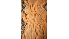 Image of a Gauze Table Runner - 16' Saffron