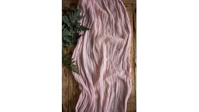 Image of a Gauze Table Runner - 16' Blush
