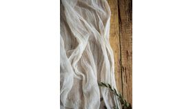 Image of a Gauze Table Runner - 16' Ivory