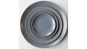 "Image of a 10"" Blue Grey Slate Stoneware Dinner Plate"