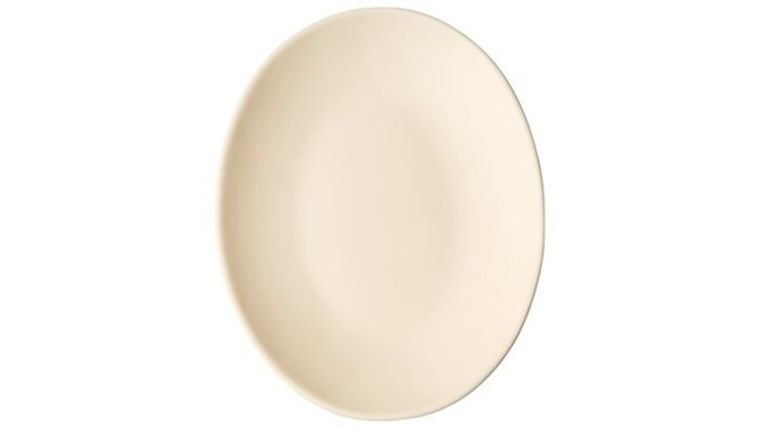 """Picture of a 12.5"""" Stoneware Artisan Platter Ivory"""