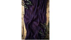 Image of a Gauze Table Runner - 16' Dark Violet