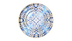"Image of a 10.5"" Blue Euro Dinner Plate"