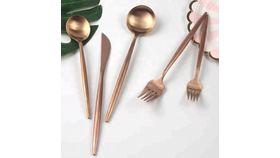 Image of a Brass Copper Salad/Dessert Fork