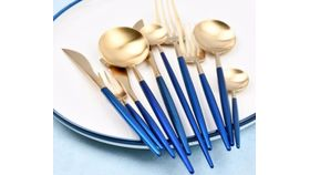 Image of a Blue Indigo Soup Spoon