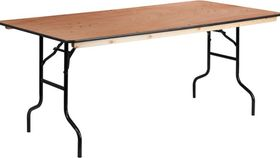 Image of a 6-foot Rectangle Banquet Table