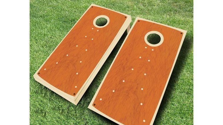 Picture of a Classic Wood Cornhole