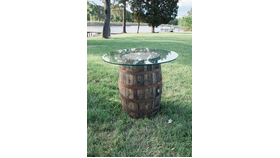 Image of a Barrel Cocktail Table Original