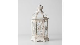 "Image of a 13"" Hex Cream Lace Lantern"