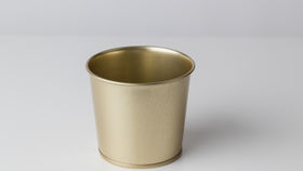 "Image of a 4"" Gold Metal Tub"
