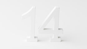 "Image of a 4"" White Laser Cut Table Numbers"