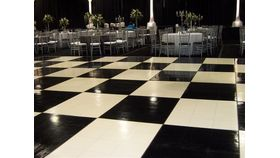 Image of a Black and white dance floor