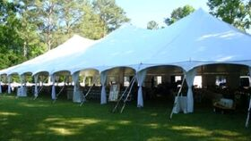 Image of a Tent Leg Drape