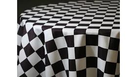 Image of a Black and White Checkered Chair Band