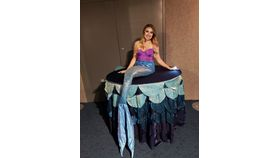 Image of a Table Lady - Blue Mermaid
