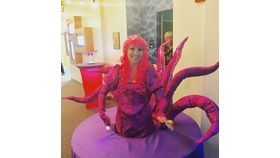 Image of a Table Lady - Purple Octopus