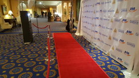 Image of a Custom Step & Repeat with Stand