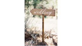 Image of a Wedding Wooden Directional Sign