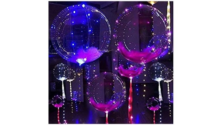 Picture of a Illuminated Helium-Balloons