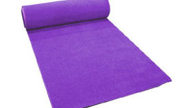 Image of a 25ft Purple Carpet Runner