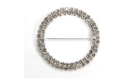 Image of a Round Diamond Rhinestone Sash Pin
